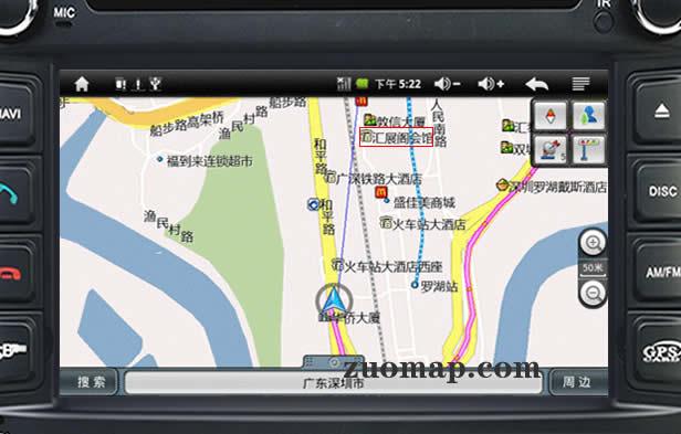 汽车导航地图标注案例