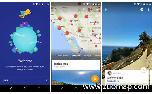 虚拟现实版谷歌地图标注街景应用