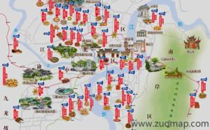 重庆地图标注