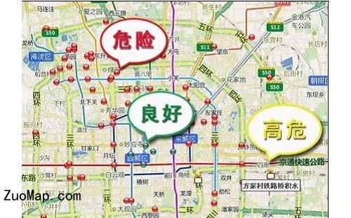 北京暴雨积水点分布地图标注上线